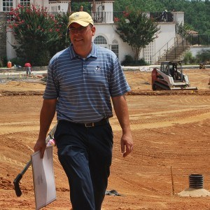Image of Joel Weiman during golf course construction