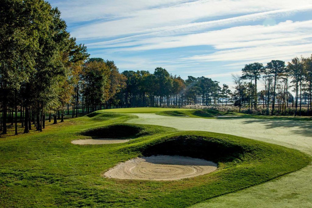 Bunkers in a golf course