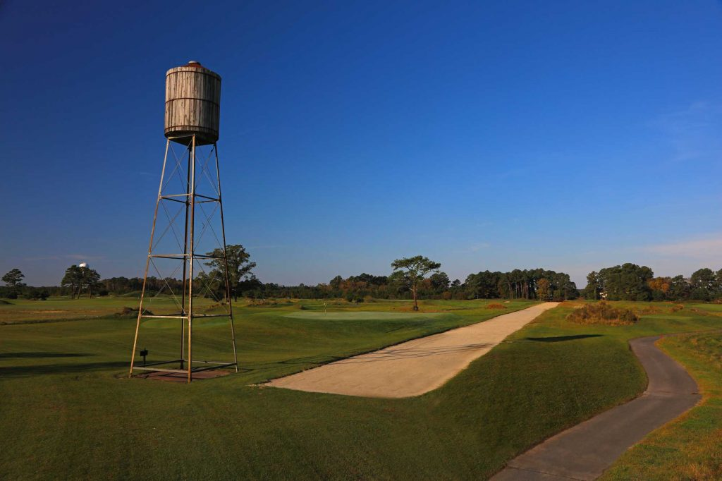 Water tank on the golf course