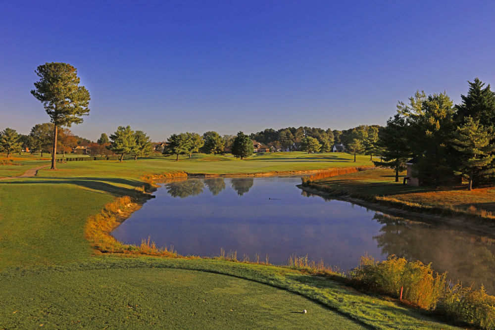 Image of a pond in the golf course